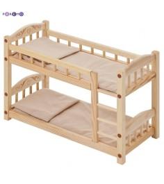 Двухъярусная кроватка для кукол PAREMO бежевый текстиль PFD116-05