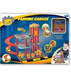 Игровой набор Dave Toy парковка с 2 машинками 32030
