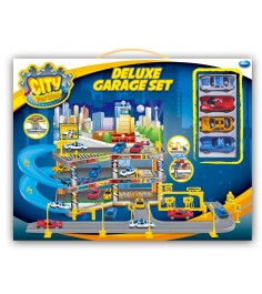 Гараж Dave toy делюкс с 4 машинками 32037