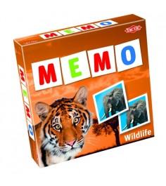 Обучающая настольная игра Tactic Games Мемо Дикие животные 2 41441
