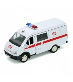 Модель машины 1:34 39 ГАЗель скорая помощь Welly 42387BAE