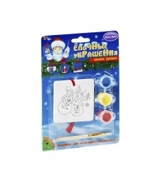 Набор для росписи елочного украшения досуг с буки два снеговика Bondibon ВВ0982