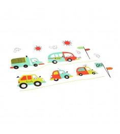 Набор наклеек для оформления детской комнаты транспорт Bondibon ВВ1512