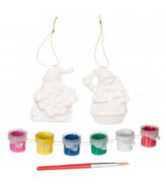 Набор для творчества елочные украшения снеговички Bondibon ВВ1601