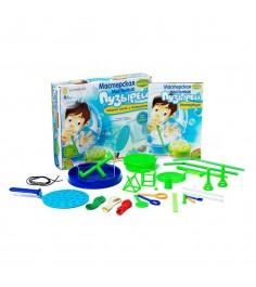 Игровой набор мастерская мыльных пузырей 8 экспериментов Bondibon ВВ47455