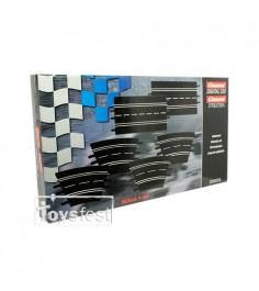 Дополнительные части Carrera к треку набор 2 прямые 4 поворота Evolution DIG132 DIG124 26955