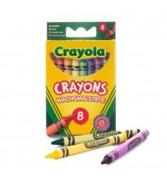 8 разноцветных стандартных восковых мелков Crayola 0008C