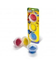 Волшебный застывающий пластилин 3 цвета в баночках Crayola 23-6018