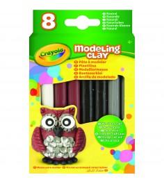 Незасыхающий пластилин натуральный 8 цветов Crayola 57-0314N