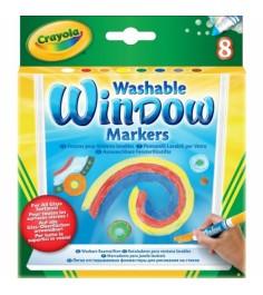 8 смываемых маркеров для рисования на стекле Crayola 58-8165