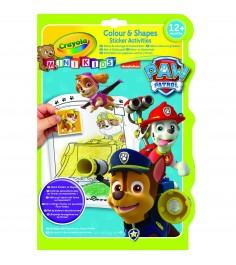 Раскраска с фигурными наклейками щенячий патруль Crayola 81-1373