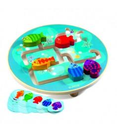 Деревянная игрушка Djeco Головоломка Рыбки k01689