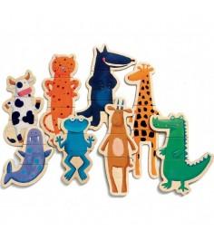 Детская развивающая магнитная игра Djeco Ферма Забавные животные k03111