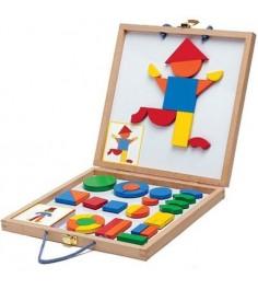 Магнитная развивающая игра Djeco с набором магнитных фигур Геоформ k03130