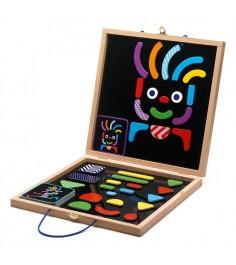Детская развивающая магнитная игра Djeco Гео человечки k03136