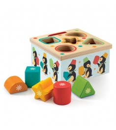 Деревянная игрушка Djeco Головоломка Пингвин k06409