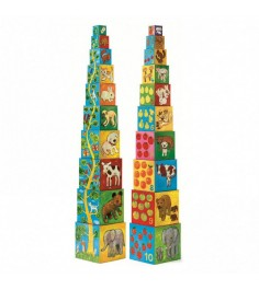 Кубики пирамида Djeco Мои друзья с изображениями k08506