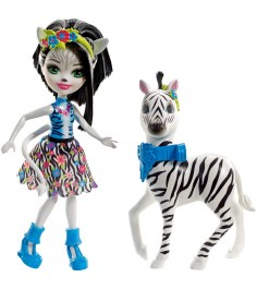 Кукла Enchantimals Зелена Зебра и Хуфетт FKY75