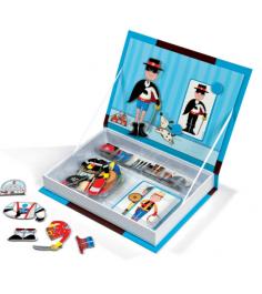 Магнитная книга игра Janod Мальчишки в костюмах 34 магнита 8 костюмов bj05544