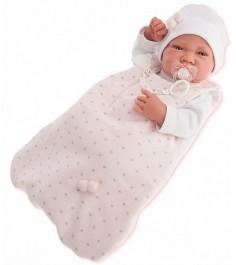 Кукла младенец Juan Antonio Кармела в розовом 42 см 5002P