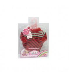 Одежда для кукол штаны красная кофта шапочка 40 42 см Карапуз B651827-RU