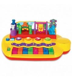Развивающая игрушка Kiddieland Пианино с животными на качелях KID 033423