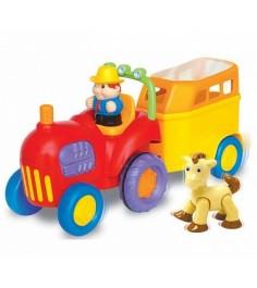 Игровой развивающий центр Kiddieland трактор с лошадкой KID 038224