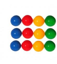 Дидактический материал цветные шарики 40 шт Класата 1404