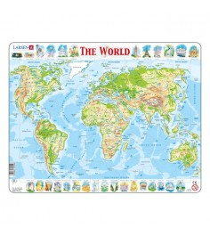 Пазл Larsen The World 80 элементов K4