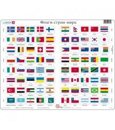 Пазл Larsen Флаги стран мира 80 элементов L2