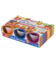 Тесто для лепки пластишка набор №10 6 цветов Lori Тдл-013