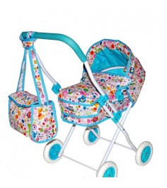 Коляска люлька Mary Poppins Фантазия с сумкой голуб 62х405х71см 67315