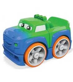 Mega Bloks гоночная машинка сине зеленая FLT35