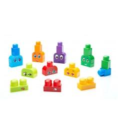 Mega Bloks базовый набор строй и учись изучаем эмоции FLT38