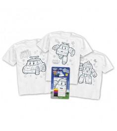 Набор для творчества раскрась футболку робокар поли Origami 2315
