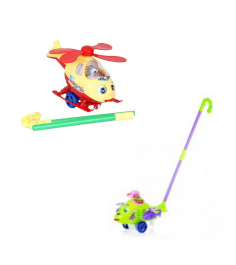 Каталка на палочке вертолет Play Smart 1191
