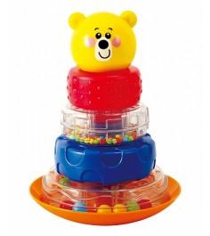 Развивающая игрушка PlayGo Пирамида неваляшка мишка Play 2392
