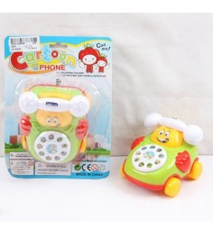 Заводной телефон на колесах cartoon Gratwest В76311