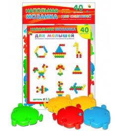 Напольная мозаика для малышей 40 деталей Рыжий кот м-5133