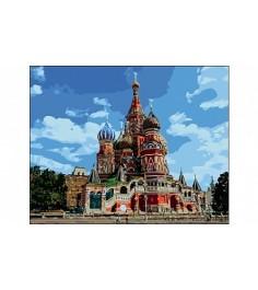 Рисование по номерам москва собор василия блаженного 40x50 см Рыжий кот Q1370