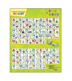 Звуковой плакат Рыжий кот русский и английский алфавит ЗП-7196