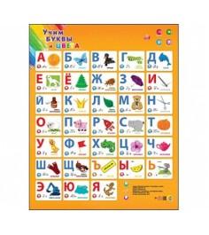 Звуковой плакат учим буквы и цвета Рыжий кот ЗП-7197