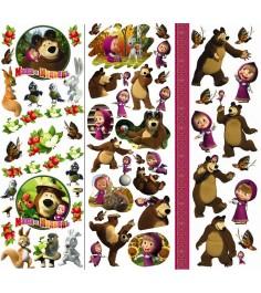 Набор для творчества маша и медведь переводные картинки на керамику Росмэн 15523