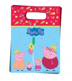 Пакет для подарков 6 шт Пеппа принцесса Росмэн 28562