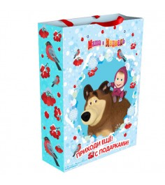 Пакет подарочный Маша зимой 25*9*35 см Росмэн 28846