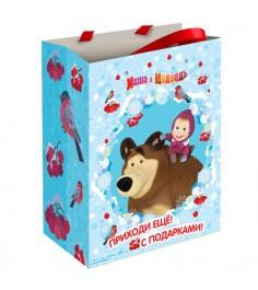 Пакет подарочный Маша зимой 18*10*23 см Росмэн 28847