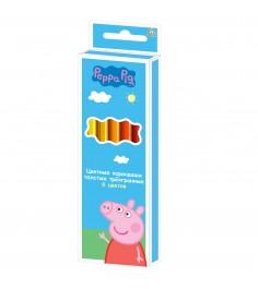 Цветные карандаши толстые Свинка Пеппа 6 цветов Росмэн 29110
