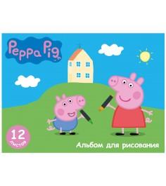 Альбом для рисования свинка пеппа 12 листов Росмэн 29606