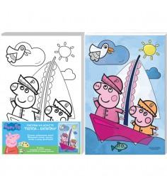 Набор для росписи по холсту пеппа капитан 20 x 30 см Росмэн 30166