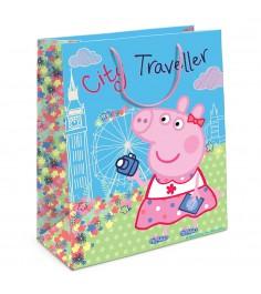 Пакет подарочный Пеппа на каникулах Свинка Пеппа 230х180х100 Росмэн 31018